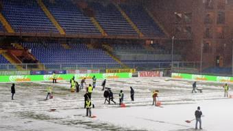 In Genua fiel das Stadt-Derby dem Schnee zum Opfer