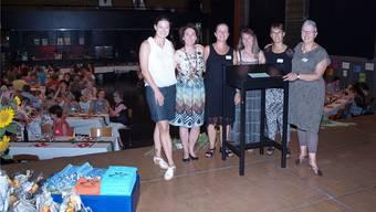Ferienpass-Team: von links Aline Müller, Stella Lehmann, Rahel Nobs, Dora Felder, Annemarie Junker und Cornelia Kaeser. hub