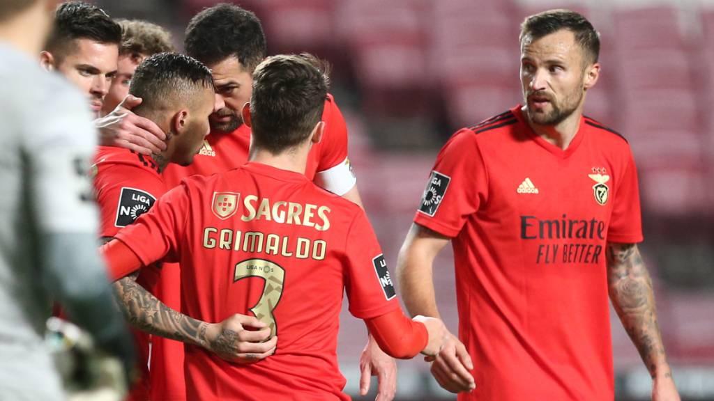 Haris Seferovic darf sich bei Benfica als Torschütze feiern lassen