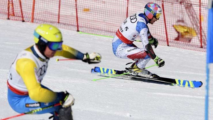 Luca Aerni verlor nur wenige Hundertstel auf Mattias Hargin.