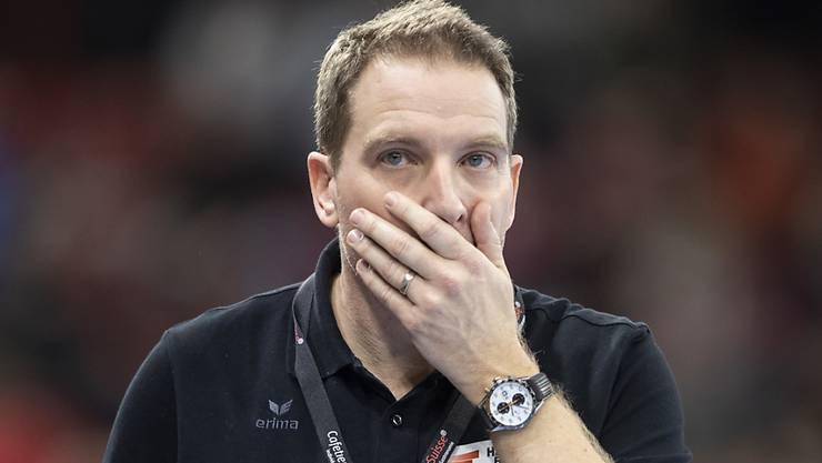 Nationalcoach Michael Suter vor dem entscheidenden Spiel der Schweizer Handballer