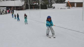 Skilift in Dietikon: Den Kindern hat es Spass gemacht.