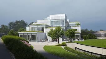 """Der Spatenstich für HSG """"Learning Center"""" soll noch in diesem Jahr erfolgen. Das Projekt der japanischen Architekten von Sou Fujimoto Tokio/Paris sieht mehrere rasterförmig angeordnete Würfel vor, die zwischen 3,5 und 18,5 Meter hoch sind."""