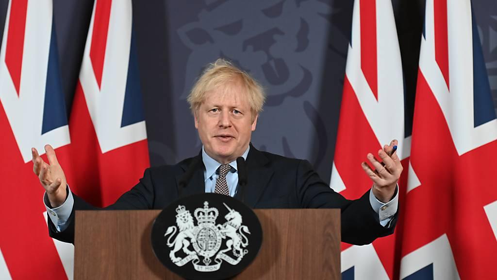 Großbritanniens Premier Boris Johnson: «Freiheit ist, was du daraus machst.» Foto: Paul Grover/Daily Telegraph/PA Wire/dpa