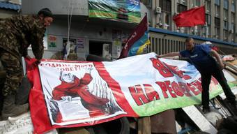 Entwaffnung nur unter Bedingungen: Prorussische Aktivisten