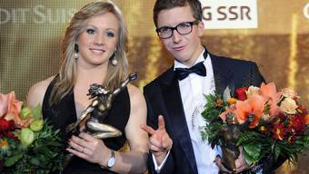 Ariella Kaeslin und Simon Ammann: Sportlerin und Sportler des Jahres Walter Bieri/keystone