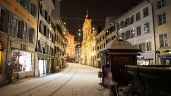 Weihnachtsbeleuchtung in der Stadt Solothurn Anfang Dezember 2017