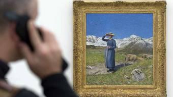 Das Bild «Mezzogiorno sulle Alpi» (1891) im Beyeler-Museum
