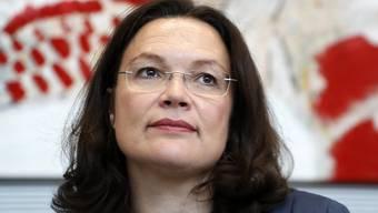 Andrea Nahles, die Fraktionsvorsitzende und Parteichefin in spe.