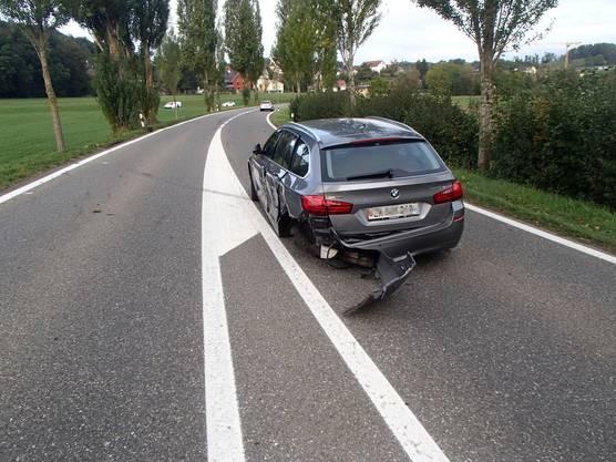 Sachschaden, aber keine Verletzten beim Unfall in Wohlenschwil