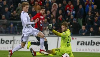 Varol Tasar schiesst den ersten seiner zwei Treffer gegen Vaduz.