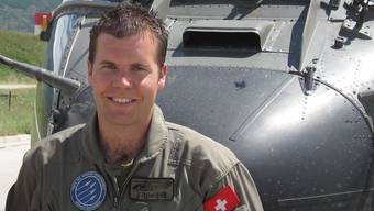Helikopterpilot Thomas Hügli.