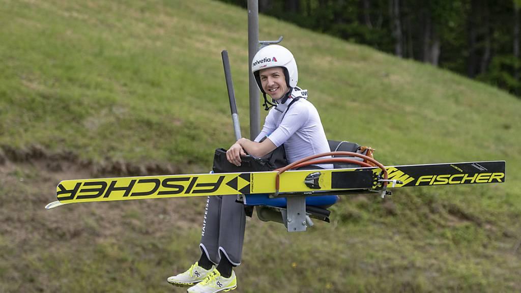 Das Training in Einsiedeln hat sich gelohnt: Simon Ammann scheint für seine 24. Weltcupsaison bereit