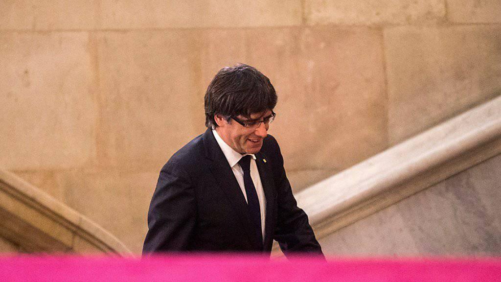 Ist nach Belgien ausgereist: Kataloniens abgesetzter Regierungschef Puigdemont. (Archiv)