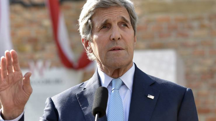 US-Aussenminister John Kerry während seines Statements zu den Atomgesprächen in Wien