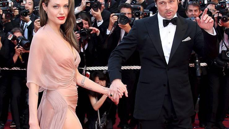 US-Boulevardmedien sind überzeugt: Brad Pitt und Angelina Jolie steht ein wüster Kampf um die sechs Kinder bevor. (Archivbild)