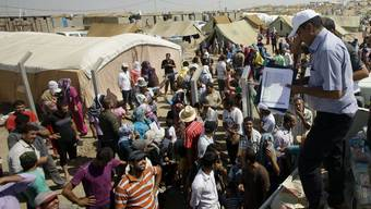 Irakische Flüchtlinge in einem Lager in Syrien im Jahr 2012.