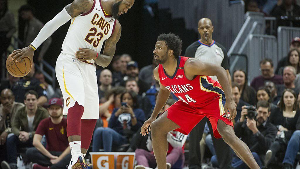LeBron James (Nummer 23) liess sich auch von den New Orleans Pelicans nicht stoppen - und knöpft Michael Jordan einen Rekord ab.