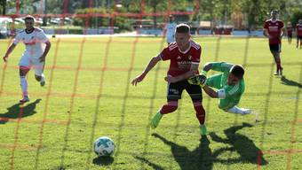 Verlässlicher Torgarant: Manuel Alessio (M.) trifft gegen Zug 94 gleich doppelt.