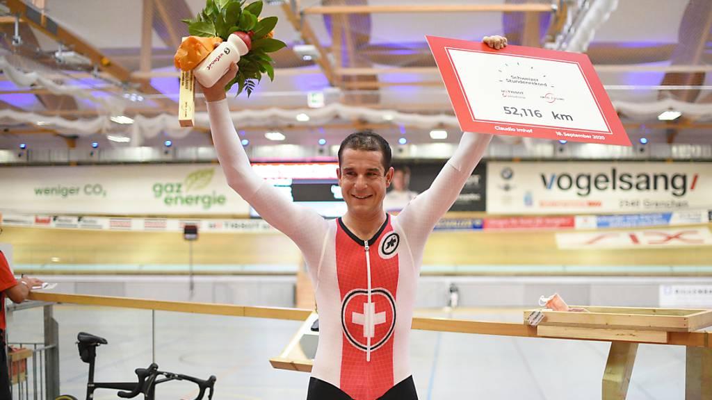Schweizer Stundenrekord von Thurgauer Claudio Imhof