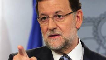Spaniens Regierungschef Rajoy nach einer Katalonien-Sitzung