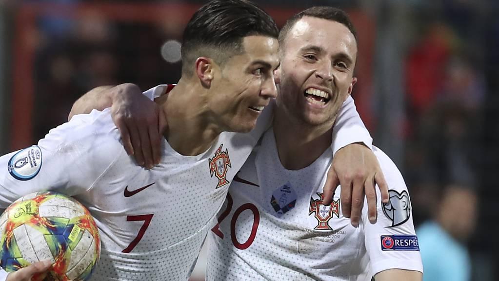 Cristiano Ronaldo jubelte in Luxemburg über sein 99. Tor für Portugal und die Qualifikation für die EM
