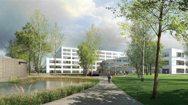 So soll das neue Spital Limmattal aussehen. Visualisierung