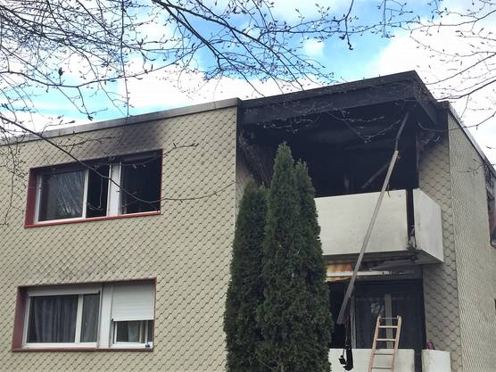 Die ausgebrannte Wohnung in Neuenhof