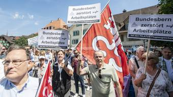 Bundesrat auf Besuch in Stans - Kritik wegen Pilatus