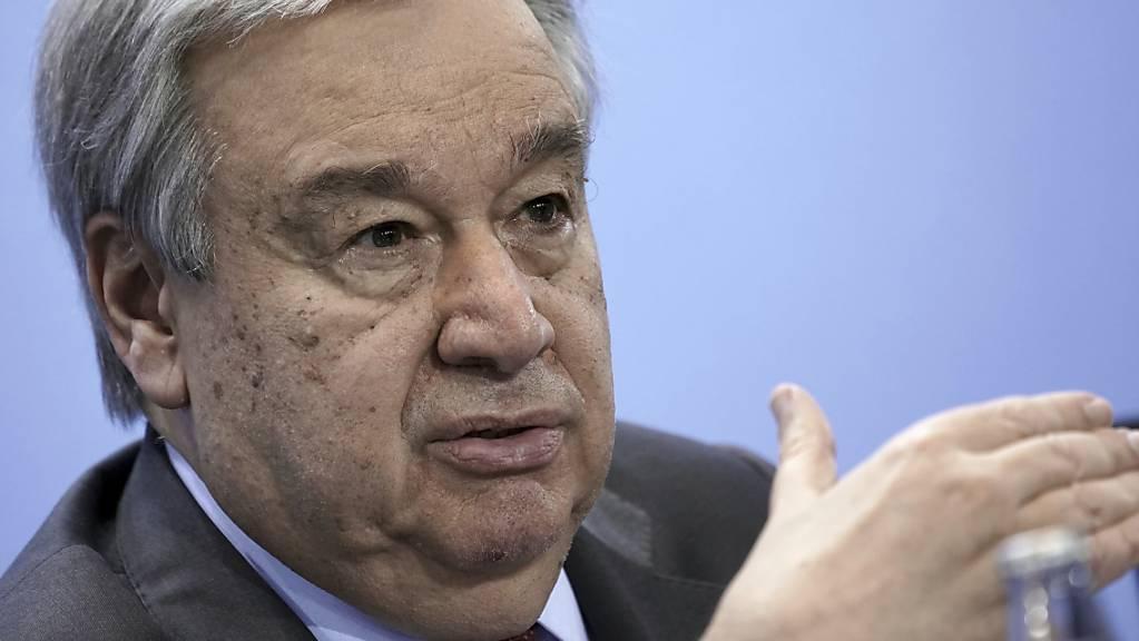 Uno-Generalsekretär António Guterres wünscht sich, dass der Sicherheitsrat der Vereinten Nationen die Berliner Libyen-Einigung unterstützt. (Archivbild)