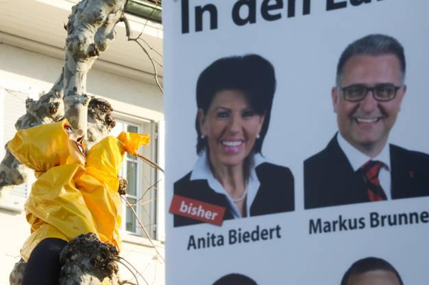Da hätten eventuell besser Anita Biedert und Markus Brunner die Pellerine getragen.