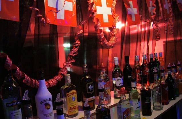 Swissness auch in der Bar, obschon die wenigsten Getränke aus der Schweiz stammen