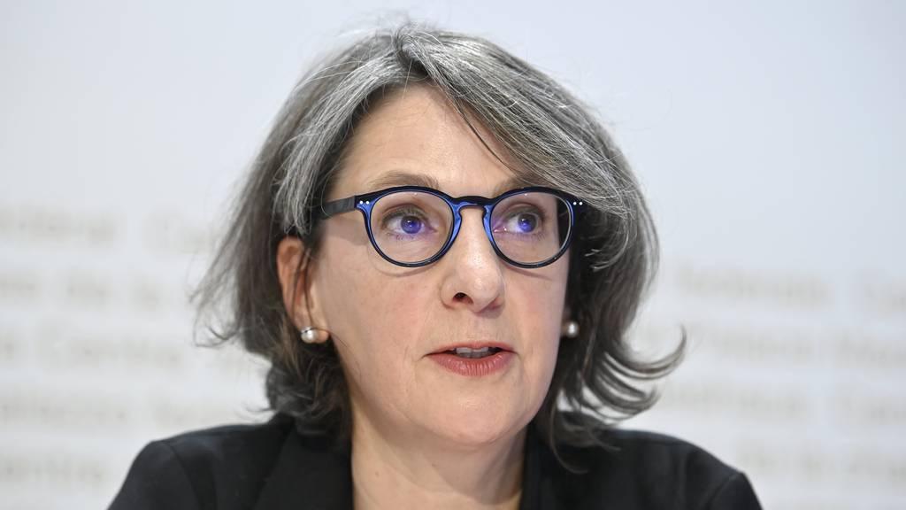 Die BAG-Direktorin Anne Lévy gab vergangene Woche die Zulassung des Impfstoffs von Pfizer/Biontech bekannt.