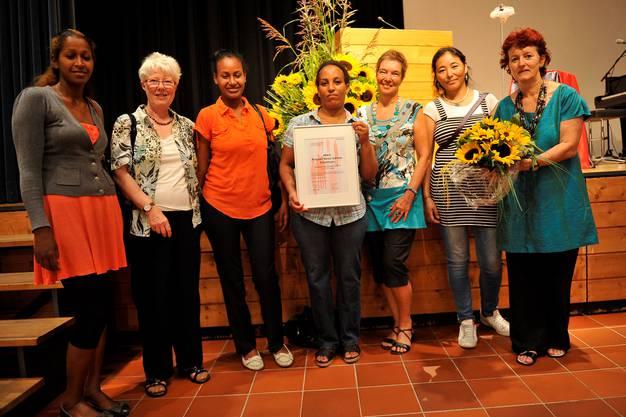 Die Frauen vom HEKS, die ebenfalls einen Anerkennungspreis gewonnen haben.