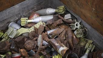 Die Schweizer Armee beseitigte im vergangenen Jahr 33 Tonnen Munitionsschrott und 352 Blindgänger. (Archivbild)