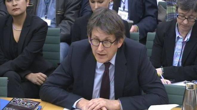 «Guardian»-Chefredaktor Alan Rusbridger am Dienstag während seiner Aussage vor dem Ausschuss des britischen Unterhauses in London. Foto: Keystone