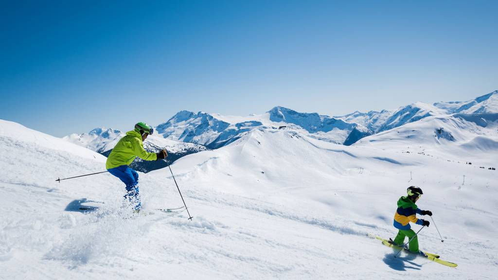Auf der Skipiste von Lech verletzten sich zwei Kinder schwer
