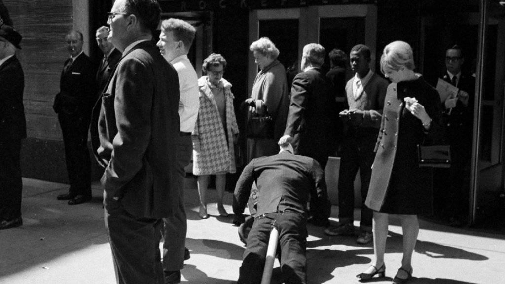 1968 gab es in New York zahlreiche Studentenproteste wie hier aus Solidarität mit deutschen Kommilitonen. (Archivbild)