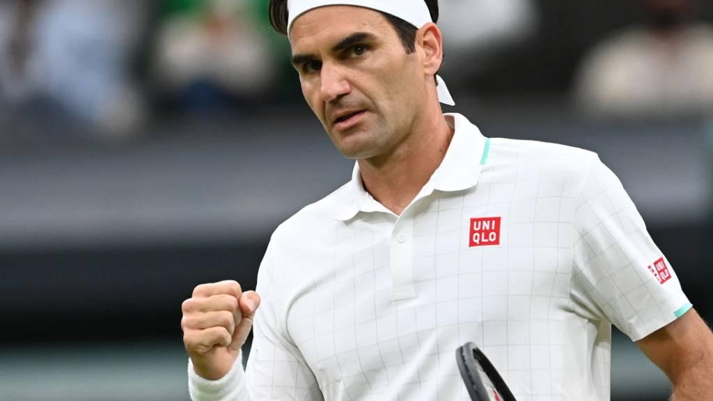 Oldie Federer zum 18. Mal im Wimbledon-Viertelfinal