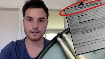 Im Facebook-Video setzt sich Nico Breuninger für seinen gebüssten WG-Kollegen ein.