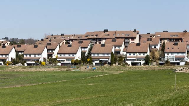 Reihenhäuser in Mutschellen im Kanton Aargau (Archiv)