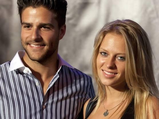 Glücklich verliebt: Mister Schweiz Luca Ruch mit seiner Freundin Daniela (Archiv)