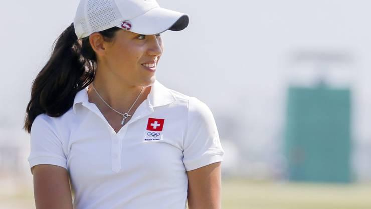 Albane Valenzuela während der 1. Runde des olympischen Golf-Turniers