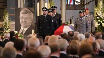 Die Trauerfeier des Anfang Juni ermordeten Kasseler CDU-Politikers Walter Lübcke.