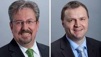 Beat Flach (GLP) und Bernhard Guhl (BDP) sind die Verlierer der az-Nationalratsumfrage. Beide geben sich aber kämpferisch. (Archiv)