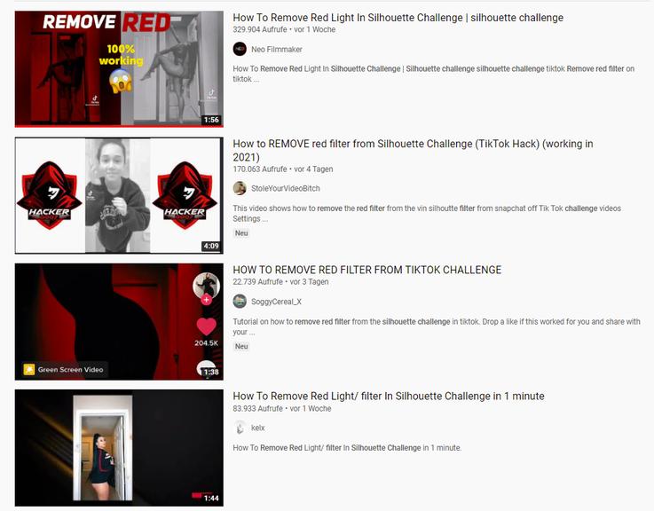 Keine Hexerei: Videos zeigen, wie man die Filter entfernen kann
