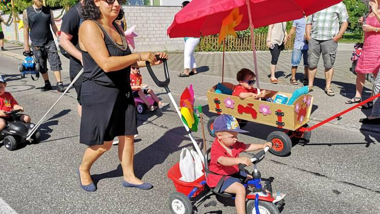 Jugendfest Boniswil Umzug am 29. Juni 2019 Die MuKi-Turngruppe