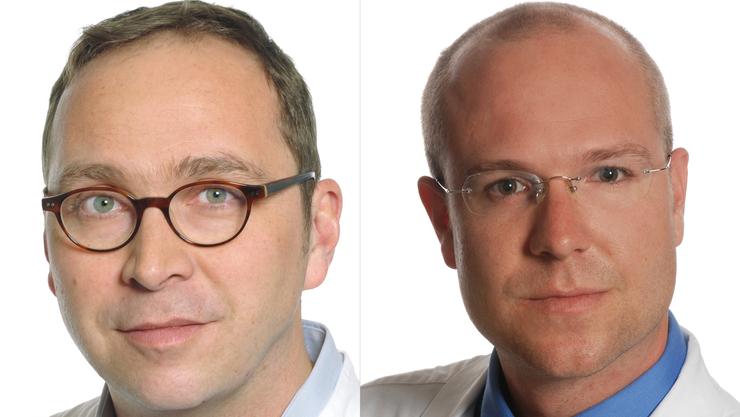 Tom Stierle (links) und Philippe Glauser teilen sich in Zukunft die chirurgische Leitung am Spital Dornach.