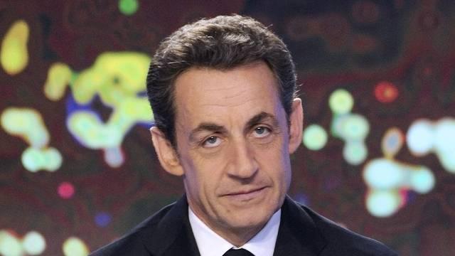 Frankreichs Präsident Nicolas Sarkozy während seinem TV-Auftritt