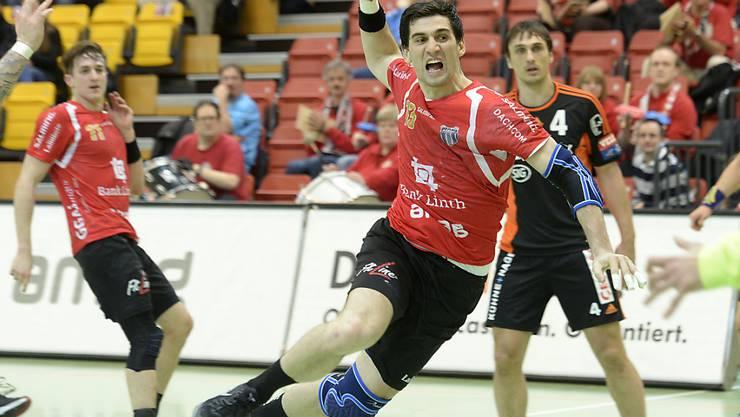 Winterthurs Kroate Filip Gavranovic war beim 29:25-Sieg von Pfadi gegen Kriens-Luzern mit acht Toren der erfolgreichste Torschütze (Archivbild)